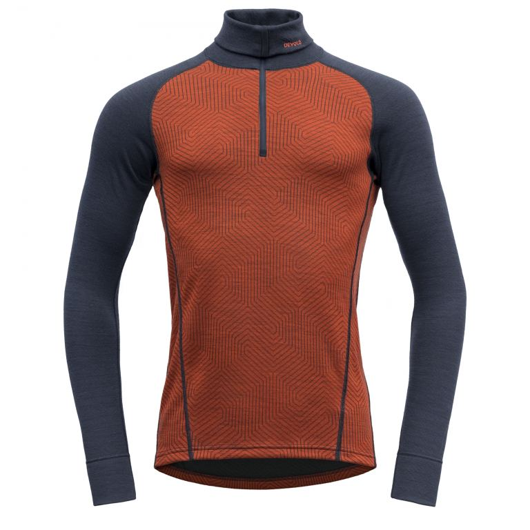Devold DUO ACTIVE M ZIP NECK brk/ink