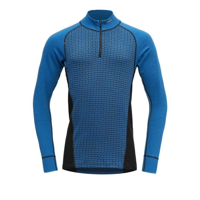 Devold ISLENDER M HALF ZIP NECK skydvr/ink