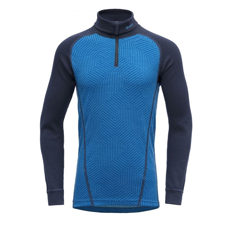Devold DUO ACTIVE JR ZIP NECK skydvr/evening