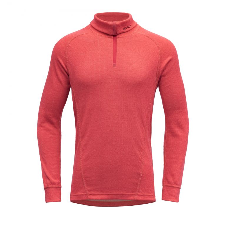 Devold DUO ACTIVE JR ZIP NECK poppy