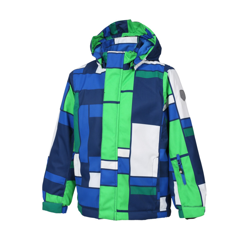 Colorkids DARWIN PADDED SKI JACKET AOP Estate Blue