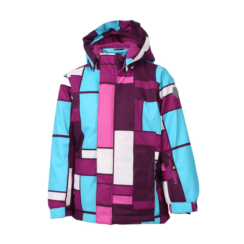 Colorkids DONNA PADDED SKI JACKET AOP Pickled Beet