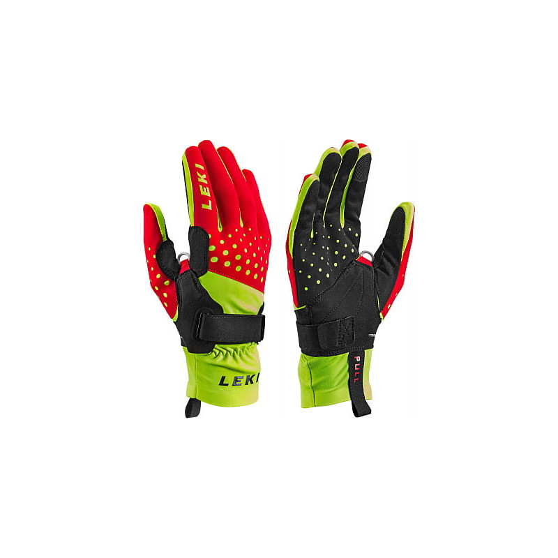 Leki NORDIC Race Shark red-yel-blk